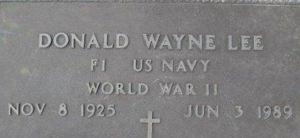 LEE, DONALD WAYNE VETERAN - Pemiscot County, Missouri | DONALD WAYNE VETERAN LEE - Missouri Gravestone Photos