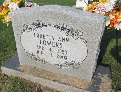 POWERS, LORETTA ANN - Pemiscot County, Missouri | LORETTA ANN POWERS - Missouri Gravestone Photos