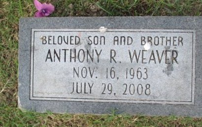 WEAVER, ANTHONY RAY - Pemiscot County, Missouri   ANTHONY RAY WEAVER - Missouri Gravestone Photos
