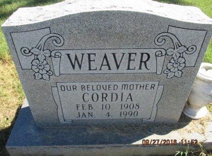 WEAVER, CORDIA - Pemiscot County, Missouri | CORDIA WEAVER - Missouri Gravestone Photos