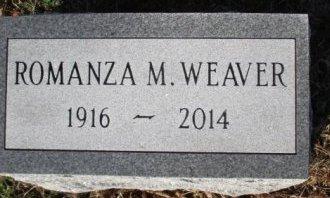 WEAVER, ROMANZA M. - Pemiscot County, Missouri   ROMANZA M. WEAVER - Missouri Gravestone Photos