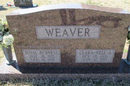 "WEAVER, ROYAL BURNESS ""SONNY"" - Pemiscot County, Missouri   ROYAL BURNESS ""SONNY"" WEAVER - Missouri Gravestone Photos"