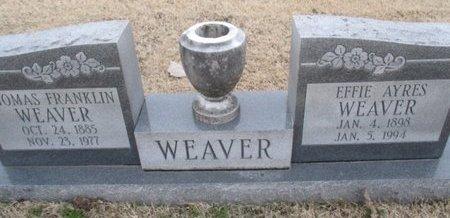 WEAVER, THOMAS FRANKLIN - Pemiscot County, Missouri | THOMAS FRANKLIN WEAVER - Missouri Gravestone Photos