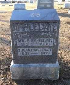 APPLEGATE, SUSAN E - Pike County, Missouri | SUSAN E APPLEGATE - Missouri Gravestone Photos