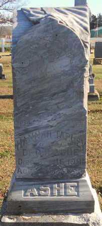 ASHE, HANNAH - Pike County, Missouri | HANNAH ASHE - Missouri Gravestone Photos