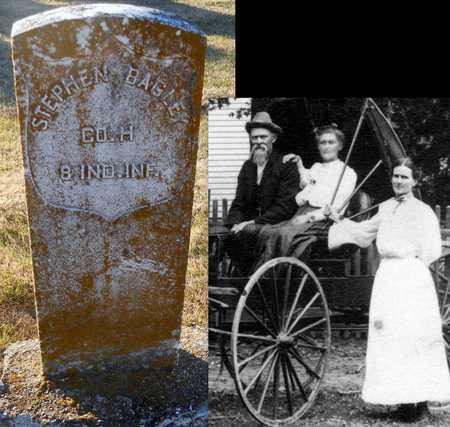 BAGLEY, STEPHEN WHITEHEAD VETERAN - Pike County, Missouri | STEPHEN WHITEHEAD VETERAN BAGLEY - Missouri Gravestone Photos
