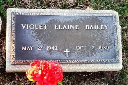 BAILEY, VIOLET ELAINE - Pike County, Missouri | VIOLET ELAINE BAILEY - Missouri Gravestone Photos