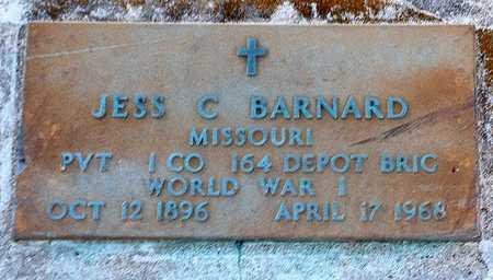 BARNARD, JESSE C VETERAN - Pike County, Missouri | JESSE C VETERAN BARNARD - Missouri Gravestone Photos