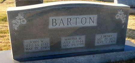 BARTON, MARTHA MARIAH - Pike County, Missouri | MARTHA MARIAH BARTON - Missouri Gravestone Photos