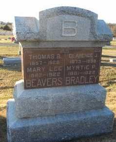 BEAVERS BRADLEY, MYRTIE PLEASANT - Pike County, Missouri   MYRTIE PLEASANT BEAVERS BRADLEY - Missouri Gravestone Photos