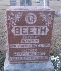 BEETH, MARY ELIZA - Pike County, Missouri | MARY ELIZA BEETH - Missouri Gravestone Photos