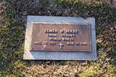 BIXBY, ELMER W. VETERAN WWII - Pike County, Missouri   ELMER W. VETERAN WWII BIXBY - Missouri Gravestone Photos