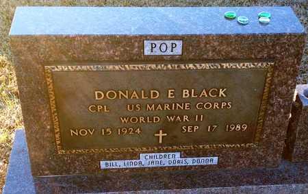 BLACK, DONALD E. VETERAN WWII - Pike County, Missouri   DONALD E. VETERAN WWII BLACK - Missouri Gravestone Photos