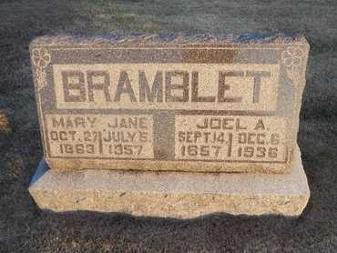 BRAMBLET, JOEL ASHBY - Pike County, Missouri | JOEL ASHBY BRAMBLET - Missouri Gravestone Photos