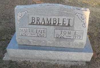 BRAMBLET, MATTIE FAYE - Pike County, Missouri   MATTIE FAYE BRAMBLET - Missouri Gravestone Photos