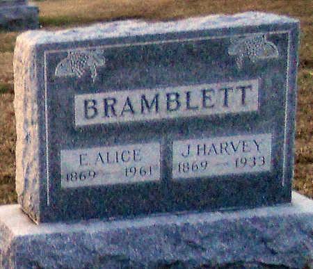 BRAMBLETT, EMMA ALICE - Pike County, Missouri | EMMA ALICE BRAMBLETT - Missouri Gravestone Photos