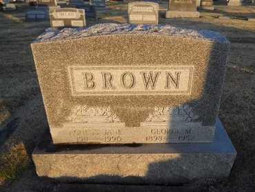 BROWN, AGNESS JANE - Pike County, Missouri | AGNESS JANE BROWN - Missouri Gravestone Photos