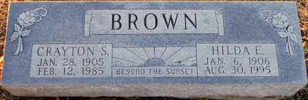 BROWN, CRAYTON S - Pike County, Missouri | CRAYTON S BROWN - Missouri Gravestone Photos