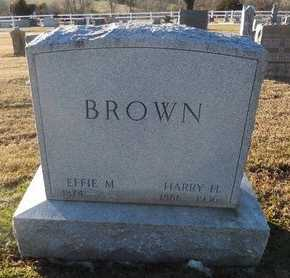 BROWN, EFFIE M - Pike County, Missouri | EFFIE M BROWN - Missouri Gravestone Photos