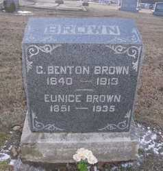 BROWN, EUNICE - Pike County, Missouri | EUNICE BROWN - Missouri Gravestone Photos