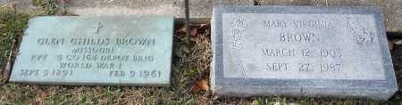 BROWN, MARY VIRGINIA - Pike County, Missouri | MARY VIRGINIA BROWN - Missouri Gravestone Photos