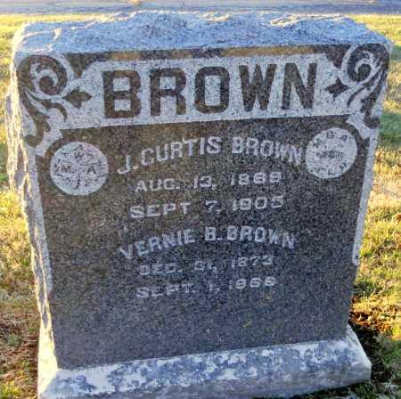 BROWN, VERNIE B - Pike County, Missouri   VERNIE B BROWN - Missouri Gravestone Photos