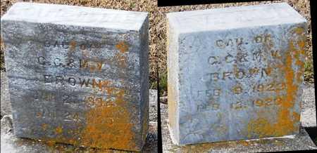 BROWN, KATIE BELLE - Pike County, Missouri | KATIE BELLE BROWN - Missouri Gravestone Photos