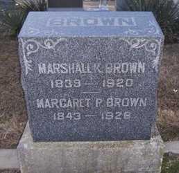 LEWALLEN BROWN, MARGARET PERMILLA - Pike County, Missouri | MARGARET PERMILLA LEWALLEN BROWN - Missouri Gravestone Photos