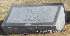 BROWN, MARTHA J (MATTIE) - Pike County, Missouri | MARTHA J (MATTIE) BROWN - Missouri Gravestone Photos