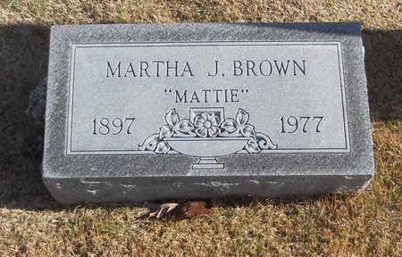 "BROWN, MARTHA J ""MATTIE"" - Pike County, Missouri | MARTHA J ""MATTIE"" BROWN - Missouri Gravestone Photos"