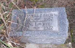 BROWN, NATHANIEL P - Pike County, Missouri   NATHANIEL P BROWN - Missouri Gravestone Photos