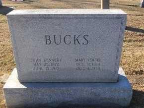 RICHARDSON BUCKS, MARY ISABEL - Pike County, Missouri | MARY ISABEL RICHARDSON BUCKS - Missouri Gravestone Photos
