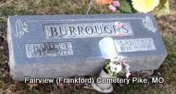 MONTGOMERY BURROUGHS, SADIE ELIZABETH - Pike County, Missouri | SADIE ELIZABETH MONTGOMERY BURROUGHS - Missouri Gravestone Photos