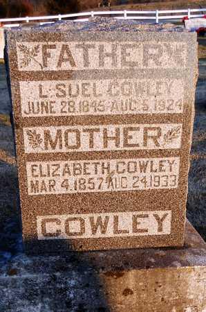 COWLEY, ELIZABETH - Pike County, Missouri   ELIZABETH COWLEY - Missouri Gravestone Photos