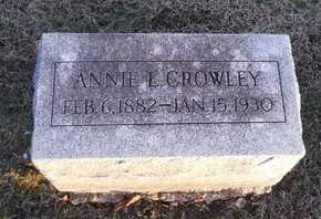 "CROWLEY, ANNIE L""ANNIE"" - Pike County, Missouri   ANNIE L""ANNIE"" CROWLEY - Missouri Gravestone Photos"