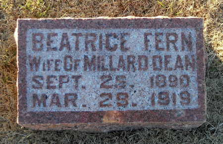 TOOTHAKER DEAN, BEATRICE FERN - Pike County, Missouri | BEATRICE FERN TOOTHAKER DEAN - Missouri Gravestone Photos