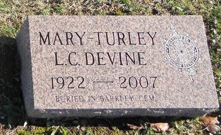 LEMON DEVINE, MARY TURLEY - Pike County, Missouri   MARY TURLEY LEMON DEVINE - Missouri Gravestone Photos