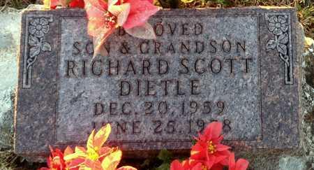 DIETLE, RICHARD SCOTT - Pike County, Missouri | RICHARD SCOTT DIETLE - Missouri Gravestone Photos