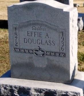 O'DELL DOUGLASS, EFFIE A - Pike County, Missouri   EFFIE A O'DELL DOUGLASS - Missouri Gravestone Photos