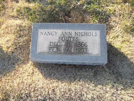 FOUTES, NANCY ANN - Pike County, Missouri   NANCY ANN FOUTES - Missouri Gravestone Photos