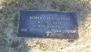 FOUTES, ROBERT HENRY VETERAN WWI & II - Pike County, Missouri | ROBERT HENRY VETERAN WWI & II FOUTES - Missouri Gravestone Photos