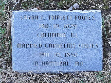 FOUTES, SARAH FRANCES - Pike County, Missouri | SARAH FRANCES FOUTES - Missouri Gravestone Photos