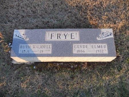 FRYE, CLYDE ELMER - Pike County, Missouri | CLYDE ELMER FRYE - Missouri Gravestone Photos