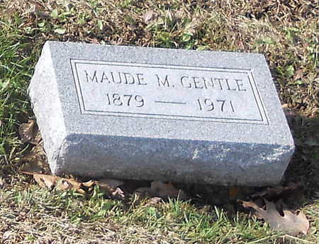 GENTLE, MAUDE M - Pike County, Missouri | MAUDE M GENTLE - Missouri Gravestone Photos