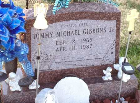 GIBBONS, TOMMY MICHAEL JR - Pike County, Missouri | TOMMY MICHAEL JR GIBBONS - Missouri Gravestone Photos