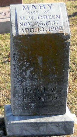 O'DELL GREEN, MARY - Pike County, Missouri | MARY O'DELL GREEN - Missouri Gravestone Photos