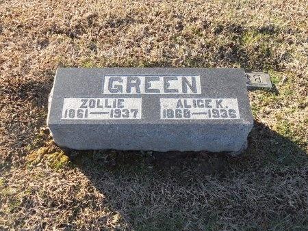 KRIGBAUM GREEN, ALICE - Pike County, Missouri | ALICE KRIGBAUM GREEN - Missouri Gravestone Photos
