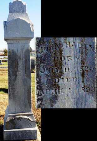 HADEN, JOHN - Pike County, Missouri | JOHN HADEN - Missouri Gravestone Photos