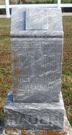 HADEN, ROBERT - Pike County, Missouri | ROBERT HADEN - Missouri Gravestone Photos
