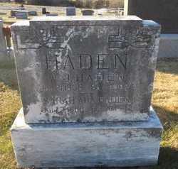 HOLMAN HADEN, SARAH ADA - Pike County, Missouri | SARAH ADA HOLMAN HADEN - Missouri Gravestone Photos